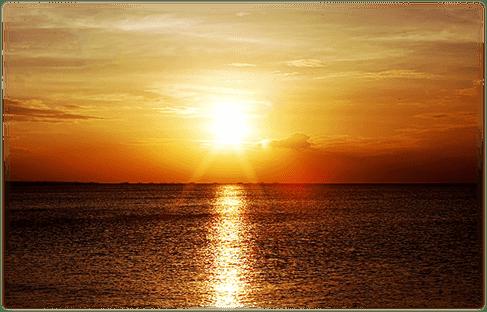 夕日のグラデーションに 心も癒させる眺望。